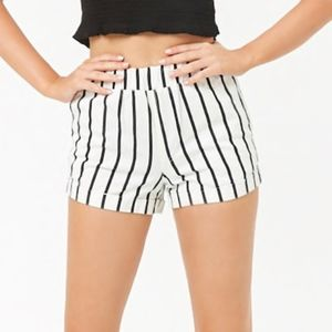 NWT FOREVER 21 striped denim shorts